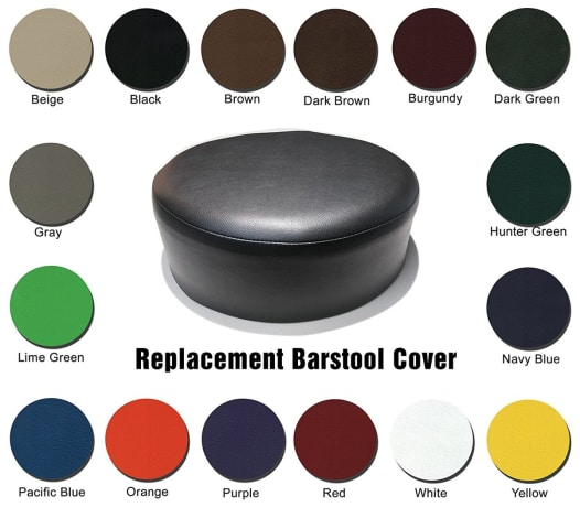 Bar Stool Covers Heavy Duty Vinyl Staple On